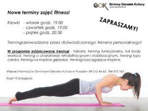 fitness nowe terminy